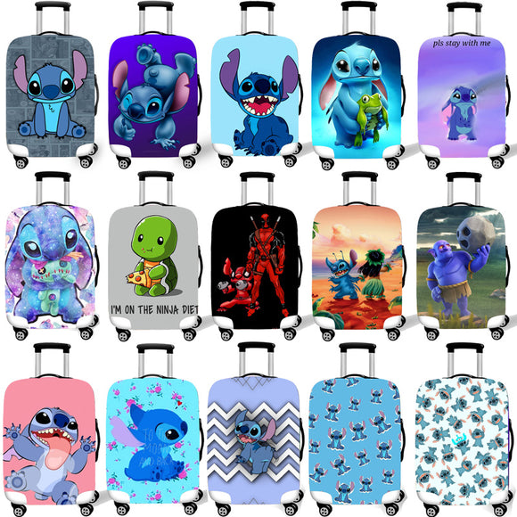 Elastic Luggage Protective Cover Case For Suitcase Protective Cover Trolley Cases Covers 3D Travel Accessories Stich Pattern T26