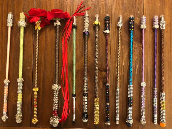 Custom handmade light up magic wands