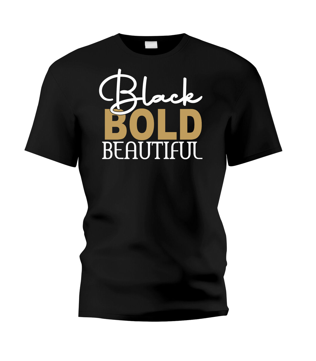Black BOLD Beautiful Tee