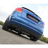 Audi A3 (8P) 2.0 TDI 140PS (2WD) (3 Door) Twin Tip Cat Back Performance Exhaust