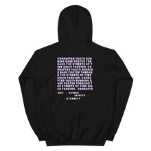 "Load image into Gallery viewer, Hoodie - ""CORRUPTED YOUTH"" Black"