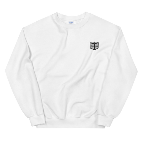 "Sweatshirt - ""DICE"" EMBROIDERY - White"