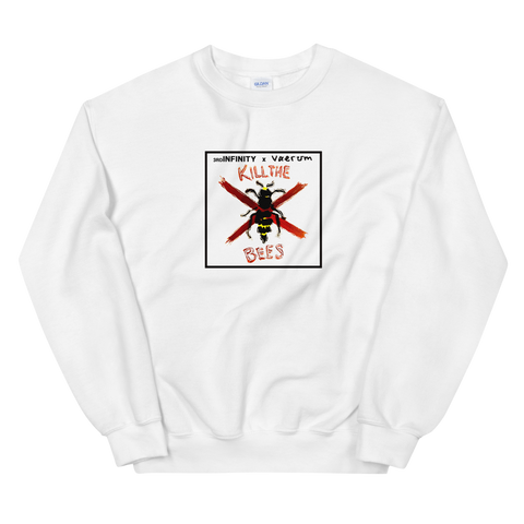 "Sweatshirt - ""KILL THE BEES"" x Vaerum - White"