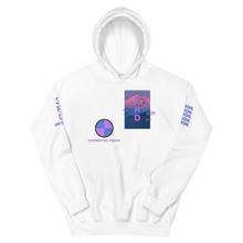 "Load image into Gallery viewer, Hoodie - ""CORRUPTED YOUTH"" White"