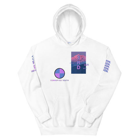 "Hoodie - ""CORRUPTED YOUTH"" White"