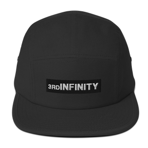 "Five Panel Cap - ""BOXED LOGO"" Black"