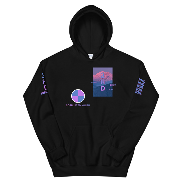 "Hoodie - ""CORRUPTED YOUTH"" Black"