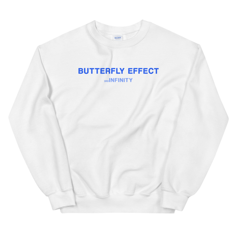 "Sweatshirt - ""BUTTERFLY EFFECT"" - White"