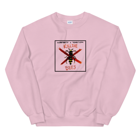 "Sweatshirt - ""KILL THE BEES"" x Vaerum - Pink"