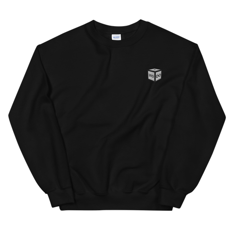 "Sweatshirt - ""DICE"" EMBROIDERY - Black"