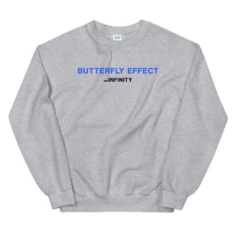"Sweatshirt - ""BUTTERFLY EFFECT"" - Grey"
