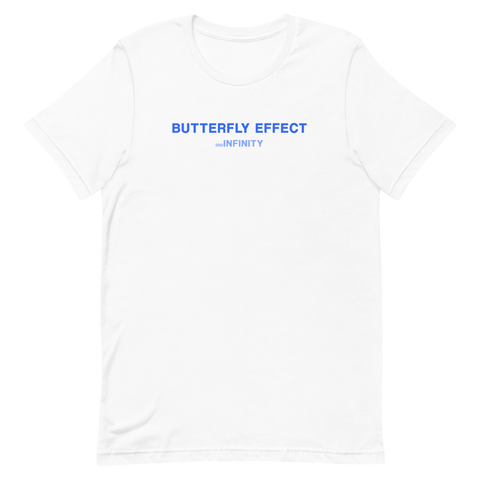 "T-Shirt - ""BUTTERFLY EFFECT"" - White"
