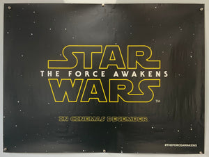 Star Wars Episode VII - The force awakens Original Teaser UK Quad
