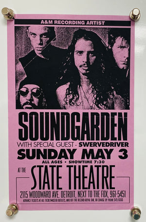 1992 Soundgarden Concert Flyer