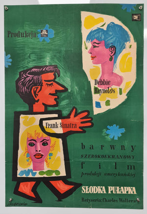 The Tender Trap - 1955 - Original Polish Poster