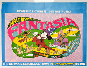 Fantasia - Re-release - 1976 - Original UK Quad Poster