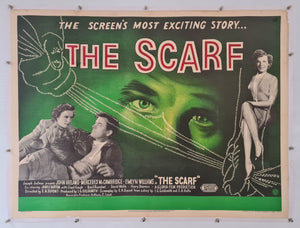 The Scarf Linen Backed - 1951 - Original UK Quad