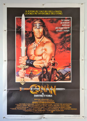 Conan The Destroyer - 1984 - Original Italian 2 Fogli