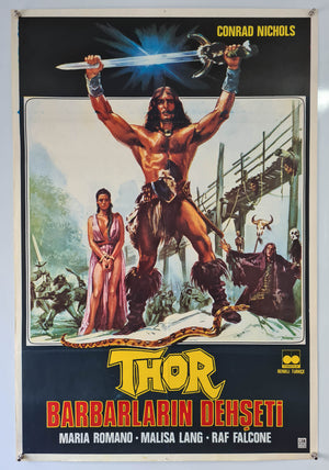 Thor The Conqueror - 1984 - Original Turkish Poster