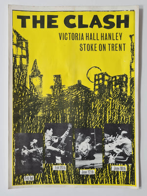 The Clash Flyer - 1980 - Victoria Hall Hanley, Stoke on Trent