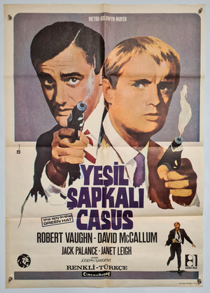 The Spy in the Green Hat (Yesil Sapkali Casus) - The Man From U.N.C.L.E - 1967 - Original Turkish Poster