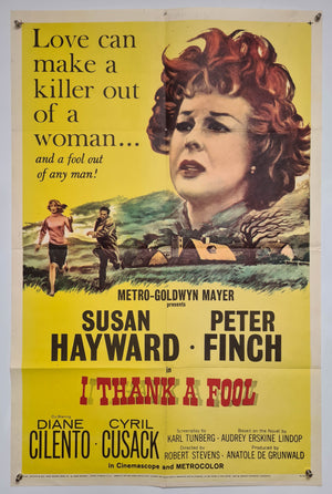 I Thank A Fool - 1962 - Original US 1 Sheet