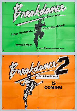 Breakdance and Breakdance 2: Electric Boogaloo Teaser - Set of 2 - Original UK Quad