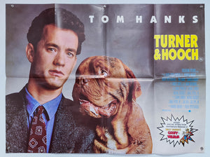 Turner and Hooch - 1989 - Original UK Quad
