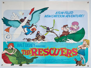 The Rescuers - 1977 - Original UK Quad