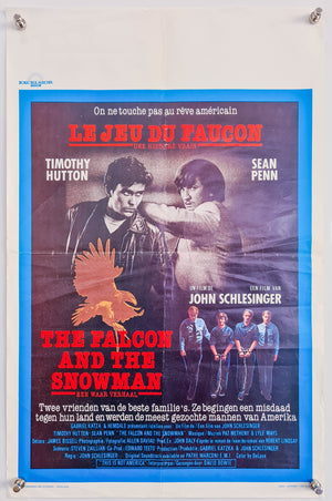 The Falcon and The Snowman (Le Jeu Du Faucon) - 1985 - Original Belgian Poster