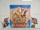 Blazing Saddles - 1975 - Original UK Quad