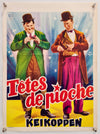 Block Heads - Têtes de Pioche - Laurel and Hardy - 1950s Re-release - Original Belgian Poster