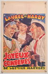 Them Thar Hills - Les Joyeux Comperes - Laurel and Hardy - 1950s Re-release - Original Belgian Poster