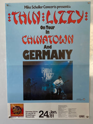 Thin Lizzy Chinatown - 1981 - Original Tour Poster
