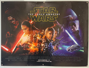 Star Wars Episode VII - The force awakens Original UK Quad