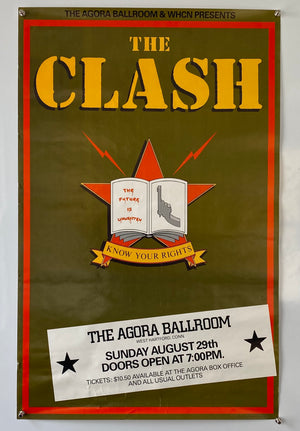 The Clash at The Agora Ballroom - 1982 - Original Tour Poster