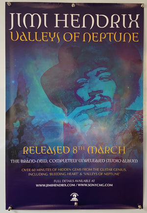 Jimi Hendrix Valley of Neptune - 2010 - Original Promo Poster