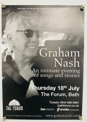 2019 Graham Nash at the Forum in Bath Concert Poster