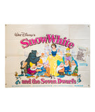 Snow White and the Seven Dwarfs - Re-release - 1970 - Original UK Quad