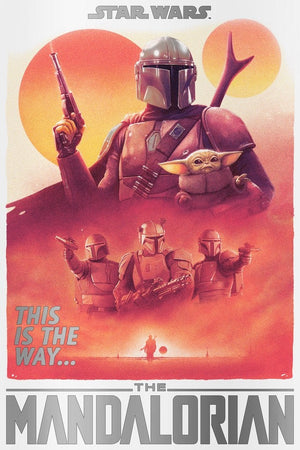 Star Wars - The Mandalorian - Foiled - Licensed Screenprint - Artist Proof - Tom Walker