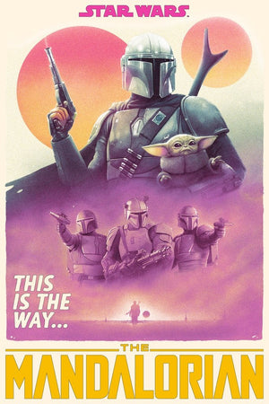Star Wars - The Mandalorian - Christmas Special - Licensed Screenprint - Artist Proof - Tom Walker