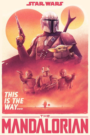 Star Wars - The Mandalorian - Regular - Licensed Screenprint - Artist Proof - Tom Walker