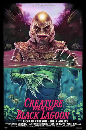 The Creature From The Black Lagoon- Regular - Universal Monsters - Screenprint - Artist Proof - Tom Walker - PRE-SALE