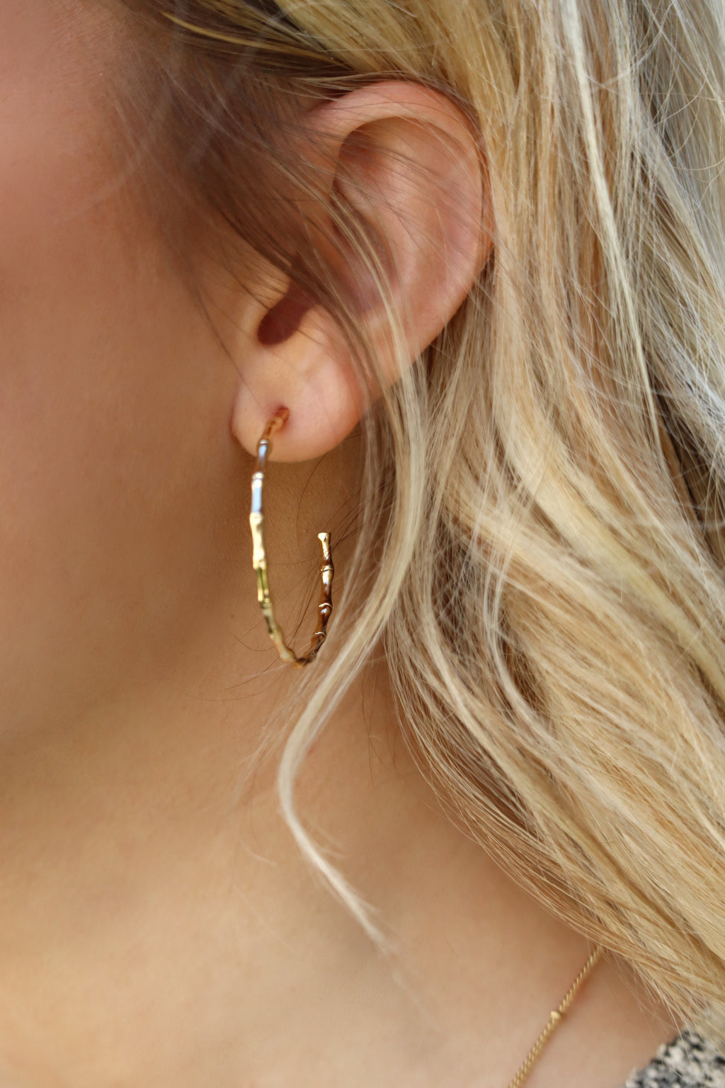 BREANNA'S BAMBOO HOOPS - GOLD