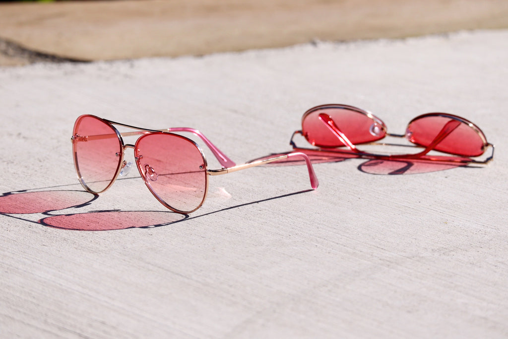 ARIEL'S AWESOME ATTITUDE AVIATORS - PINK
