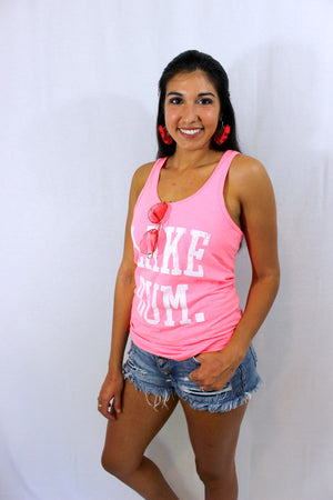 LYNN'S LAKE BUM TANK TOP – PINK