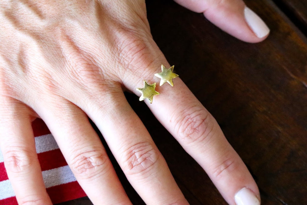 STARLEY'S DOUBLE STAR RING - GOLD