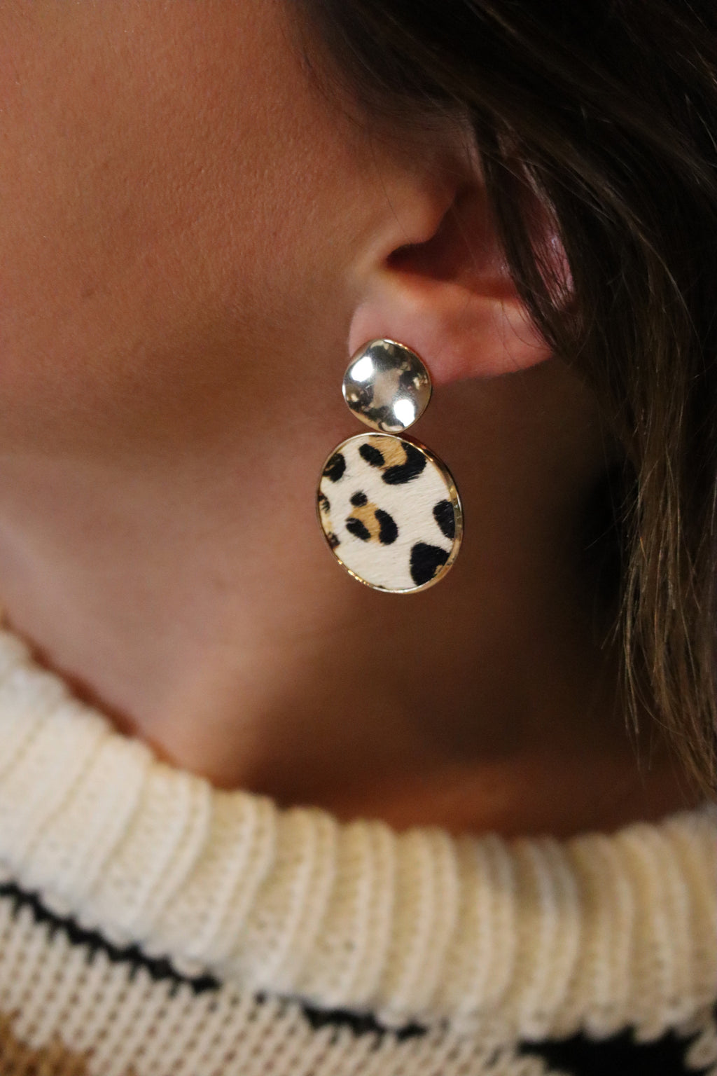 LAYLA'S LEOPARD EARRINGS - GOLD & LEOPARD