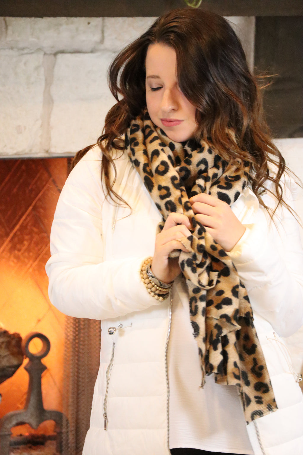 LUCY'S LUXE SCARF - LEOPARD