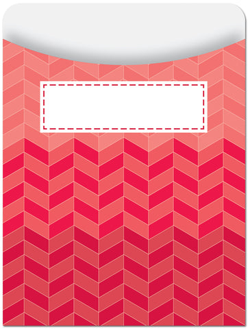 CTP6783: Ombre Poppy Red Hexagons Library Pocket